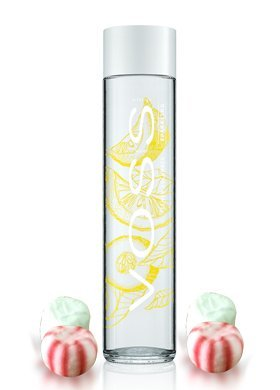 Voss Artesian Sparkling Water ,Flavored Water 375 ml (one bottle) including Jummybo custom mints (Lemon Cucumber Sparkling) (Best Flavored Water)