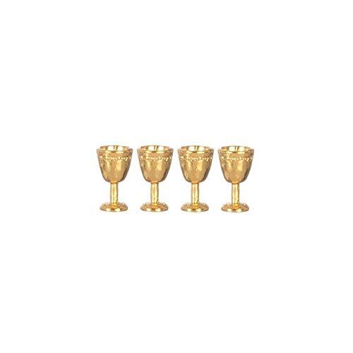 Goblet Import - Aztec Imports, Inc. Dollhouse Miniature Antique Gold Goblets/4