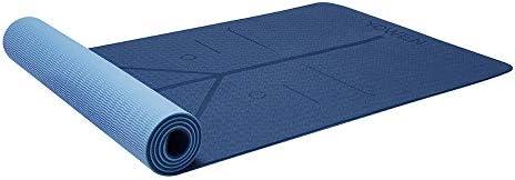 Yoga Mat, Tapete de Yoga, Estera de Yoga, 6mm Eco Friendly Pilates Mat, Colchoneta de Yoga Extra Larga y Ecológica Colchón de Ejercicios Antideslizante Esterilla de Entrenamiento para Pilates y Yoga con un Sistema de Alineación Corporal 3