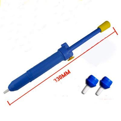 1 piece High Power Solder Sucker Desoldering Pump Tool Removal Vacuum Soldering Iron Desolder Tin Bar Remover Gun + replace nozzles