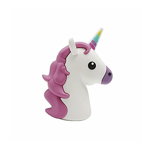 New 2600mah Unicorn Shaped Emoji Cute Funny Cartoon Gift Power Bank External Battery Portable Mobile Phone Charger For Iphone Ipad Samsung Galaxy Note All - Unicorn Cute
