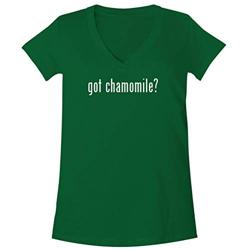 The Town Butler got Chamomile? - A Soft & Comfortable Women's V-Neck T-Shirt, Green, XX-Large