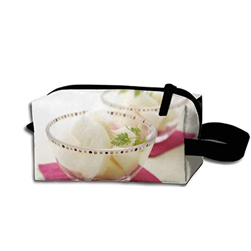 Pencil Pen Zipper Pouch Small Cosmetic Makeup Bags,Slice Fruit Bowl Style ()