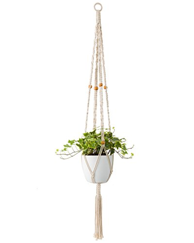 - Mkono Macrame Plant Hanger Long Hanging Planter 50 Inch (Fit Large Pot Up to 9 Inch) Indoor Outdoor Ceiling Plant Holder Basket Boho Home Decor
