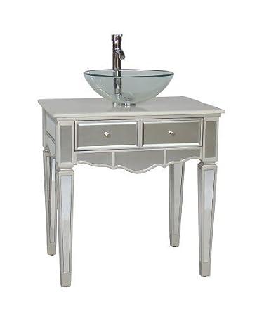Ordinaire 30u0026quot; Mirrored Over Mounted Vessel Sink Vanity   Aslton Model ...