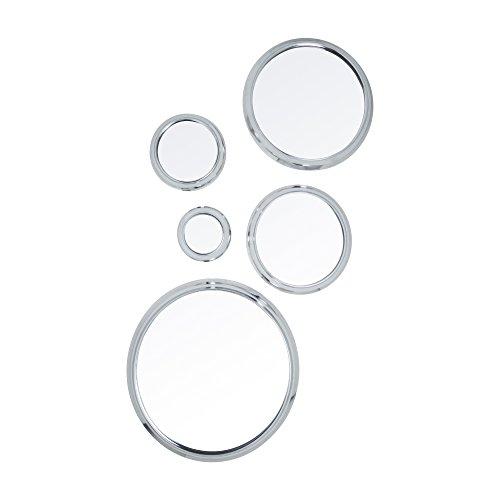 Truu Design Decorative Mirror, Set of 5, 14 Inches 14'', Silver by Truu Design