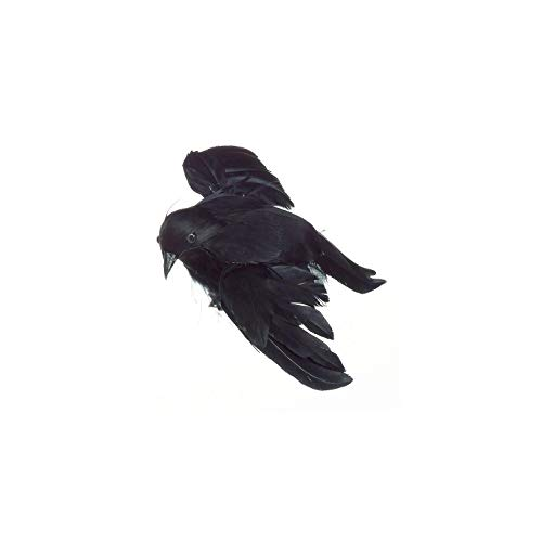 DARICE 1307-30 Feathered Flying Crow: Black, 4.75 -