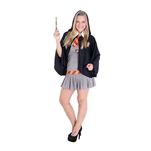 Fantasia Hermione Adulto - Heat Girls 960127-G, Cinza/Preto, Sulamericana Fantasias