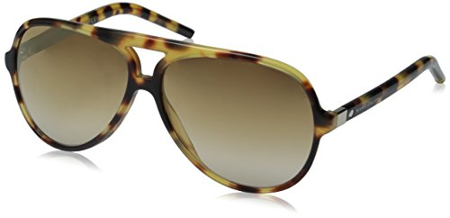 Marc Jacobs Marc70s Aviator Sunglasses, Spotted Havana/Brown Ss Gold, 60 - Jacobs By Marc Sunglasses