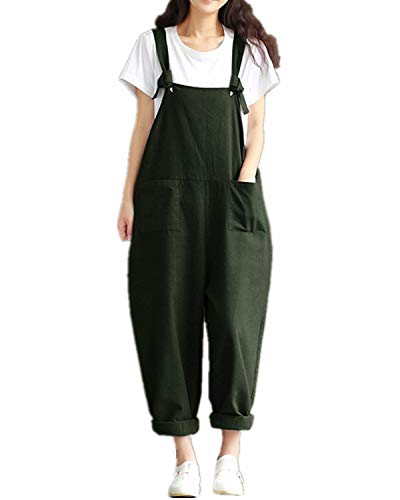 Style Dome Women's Dungarees Vintage Printed Loose Casual Baggy Sleeveless Overall Long Jumpsuit Playsuit Trousers Pants…