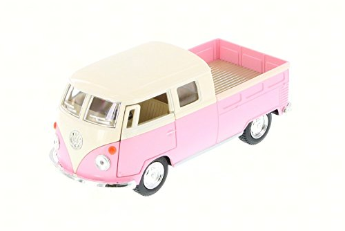 1963 Vw Bus (1963 Volkswagen Classical Bus Double Cab Pick Up, Pink - Kinsmart 5387DY - 1/34 Scale Diecast Model Toy Car (Brand New, but NO BOX))