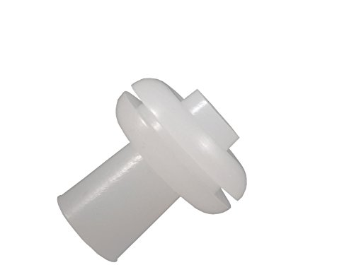 """Homebrew Guys Fermentation Grommets Pack of 12. Food Grade BPA-Free White Silicone Rubber Complete with 12 Stoppers. Best for Airlocks, Fermenting in Jars and Buckets. 3/8"""" Center for 1/2"""" Hole"""