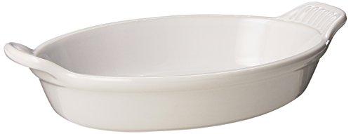Le Creuset Heritage Stoneware 24-Ounce Oval Au Gratin Dish, White