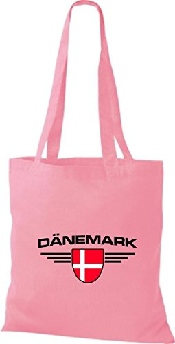 Bolsa Emblema Países De Land Tela Rosa Shirtstown Dinamarca PxqdHwPA