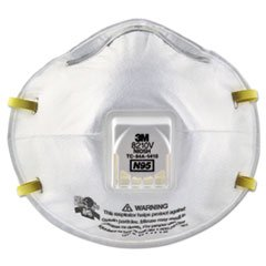 Particulate Respirator 8210v, N95, Cool Flow Valve, 80/carton By: 3M