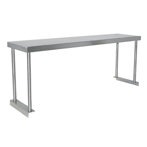 Fenix Sol Commercial Kitchen Stainless Steel Single Overshelf for Work Tables, 18'' W x 48''L x 19''H, NSF Certified by Fausett International