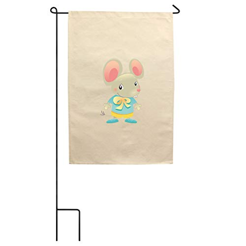 Style In Print Baby Mouse Dressed Up Cotton Canvas Yard House Garden Flag Flag Flag & Pole 18