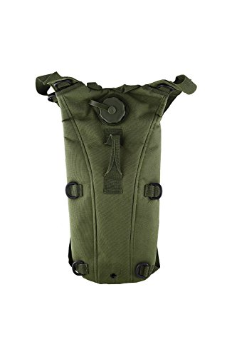 SODIAL(R)2.5L TPU Hydratation System Blase Wasser-Beutel Tasche fuer Rucksack Wandern Klettern-Armeegruen