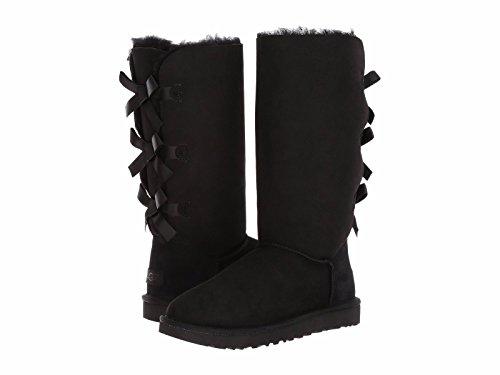 UGG Women's Bailey Bow Tall II Fashion Boot, Black, 8 M US (Ugg Bailey Boots Bow Womens)