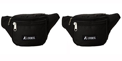 Compact Fanny Pack - Everest Signature Fanny Pack Black Set of 2