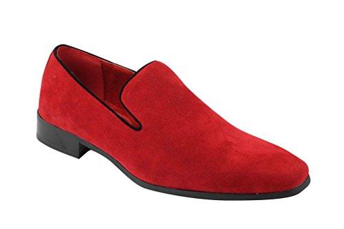 nbsp;8 brevetto uomo pelle Smart 6 Verniciato tacco UK In nbsp;12 scamosciata Da Bianco Bianco mocassini finta lucido Rossellini nbsp;7 casual guida nbsp;9 nbsp;11 nbsp;10 scarpe in 0qIU5wxz