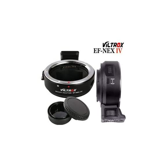 Hiffin Viltrox EF-NEX IV High Speed Electric-Lens Mount Adapter Ring AF Auto Focus for Canon EF/EF-S Lens for Sony