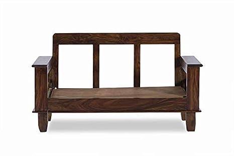 SS WOOD Furniture Sheesham Solid Wood Jodhpur 2 Seater Sofa Set | Living Room &Home | Walnut Finish: Amazon.in: Home & Kitchen