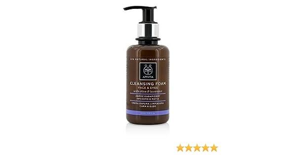 Apivita - Crema espuma limpiadora facial & ojos oliva & lavanda: Amazon.es: Belleza