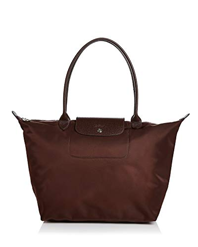 LongChamp Women's Le Pliage Large Nylon Tote Shoulder Bag Chocolate -