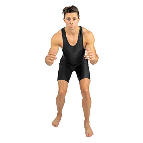 aabaa17b9 4-Time All American Solid Black Wrestling Singlet Size XS