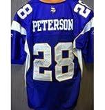 Signed Peterson, Adrian (Minnesota Vikings) Authentic Minnesota Vikings Jersey Size 52 autographed
