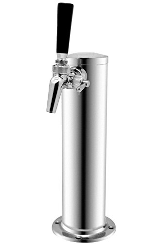 Kegco BF 1FT650SS Single Faucet Stainless Draft Beer Tower with Per Lick 650SS Stainless ()