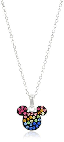 Disney Sterling Rainbow Crystal Necklace