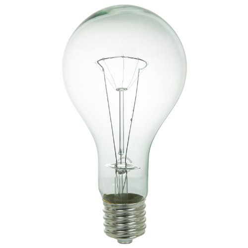 Sunlite 500PS35/CLMOG/3 Incandescent 500-Watt,130 Volt, Mogul Based, PS35 Bulb, Clear by Sunlite