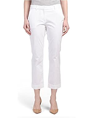THEORY Avla White New Chino Pants, Size 8