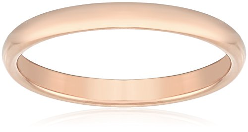 Classic Fit 14K Rose Gold Band, 3mm, Size 9.5