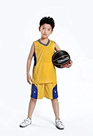 Boys' Basketball Jerseys Shirt Sports Shirts and Athletic Shorts Set for Youth Kids Age 4-13 Team Unif