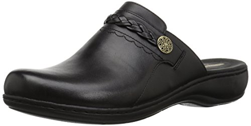 - CLARKS Women's Leisa Carly Clog, Black Leather, 075 W US