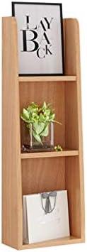 浮動コートラック 掛かる陳列だな3層の多目的の壁の純木の装飾の貯蔵の棚の本の雑誌用陳列台の寝室、調査Ect。 JAHUAJ (Color : Wood color)