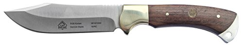 Puma SGB Kodiak Jacaranda Wood Hunting Knife with Distressed Leather Sheath