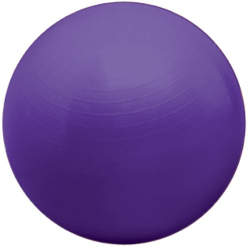 Valeo 55-Centimeter Purple Body Ball Made With Burst Resistant PVC Plastic And Includes 2 Way Action Pump And Exercise DVD