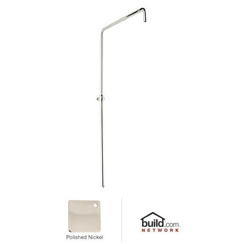 Rohl 1565PN Country Bath Swiveling Riser with Hand Shower Hose and Parking Bracket, Polished Nickel (Parking Bracket Hand Shower)