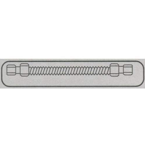 Flex 24 Connector Inches Stainless (Fire Magic 1/2x24 Inch Stainless Flex Connector)