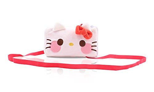 Finex Hello Kitty Plush Phone Purse and Credit Card Money Holder with Zipper Case Stuffed Pouch for quarters dollars girl women