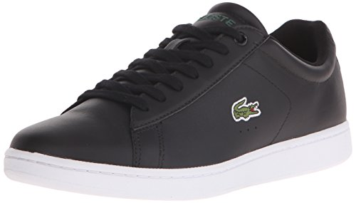 Lacoste Mens Carnaby EVO LCR Casual Shoe Fashion Sneaker, Black, 7 M US