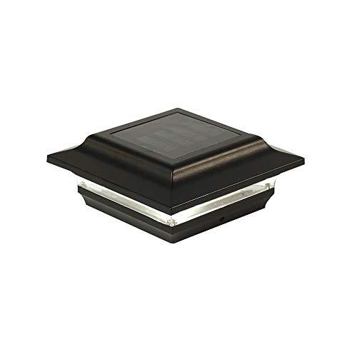Classy Caps SL211B 4X4 Black Aluminum Imperial Solar Post Cap, 4' x 4',