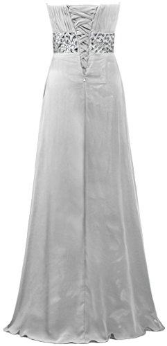Fourmis Perle Sweetheart Femmes Robes Longues En Mousseline De Bal D'argent De Robes De Soirée