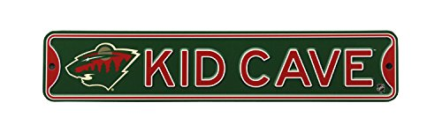 Authentic Street Signs NHL Hockey Officially Licensed STEEL Kid Cave Sign-Decor for sports fan bed room! (Minnesota Wild) ()