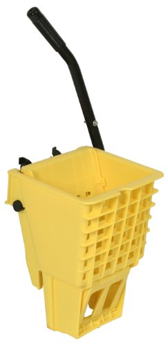 Continental SW12YW, Yellow 12-32 Oz. Splash Guard Side-Press Wringer (Case of 1) by Continental