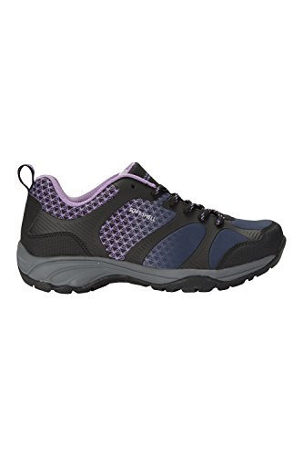 Shoes Lightweight for Walking Mesh Outsole Footwear Womens Use Navy Glissade Softshell Mountain Warehouse Everyday Travelling amp; Lining Rubber qP1IX1